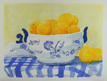 "Siv Leander litografi ""Citroner"" (B)"